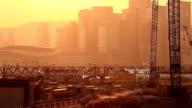 HD:Silhouette scene construction in Hongkong. video