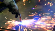 HD:Spot welding work. video