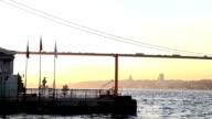 HD:Sunset in Istanbul, Bosphorus bridge, Turkey video