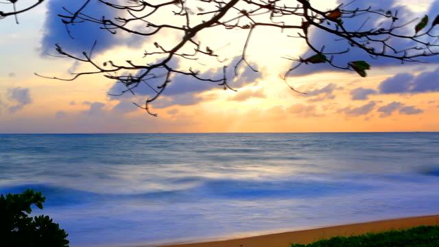 HD:Sunset scene on the beach.(Timelapse) video