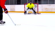 HD:Super Slo-Mo Shot of Ice Hockey Players at Practice video
