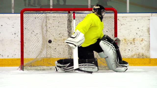HD:Super Slo-Mo Shot of Ice Hockey Players Scoring video