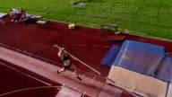 HD:Super Slo-Mo Shot of Young Women at Pole Vault video