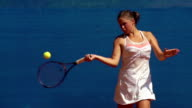 HD:Super Slo-Mo Shot of Young Women Playing Backhand and Forehand video