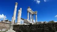 HD:Temple of Trajan at Pergamos **Time Lapse**, Bergama, TURKEY video