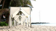 HD:Tents venue for weddings on the beach. video