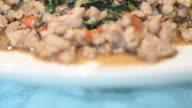 HD:Thai food stir basil video