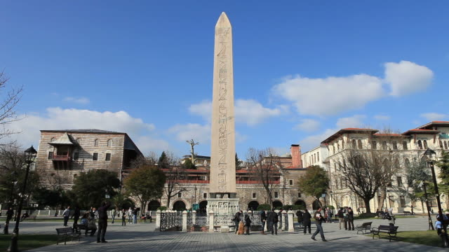 HD:The Obelisk of Theodosius  **Time Lapse**  Istanbul, TURKEY video