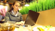 HD:Tired Businesswoman in front of the Laptop. video