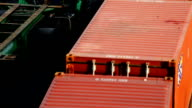 HD:Train cargo moving by train with top view. video
