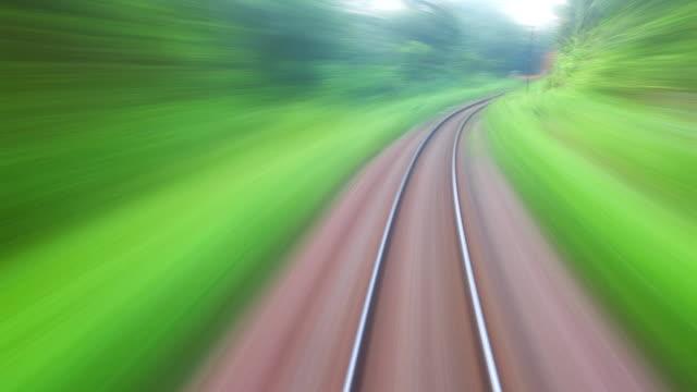HD:Train travel.(Timelapse.) video