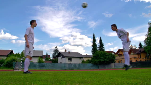 HD:Two Men Practicing Soccer Passes video