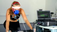 HD:Women Performing Pulse Trace and VO2Test on the Indoor Bicycle video