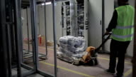 HD:Worker operating pallet jack video