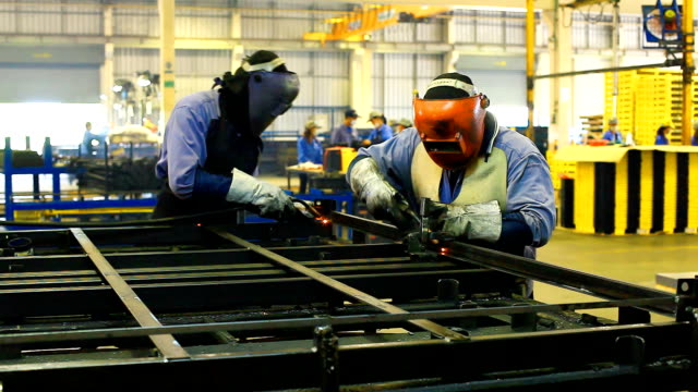 HD:Worker with protective workwear on welding operation.. video