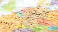 HD:World map panning view. video