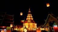 HD:Yee Peng festival in thailand. video