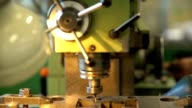 he drill bit rotates within the metal mold. Manufacture of molds video