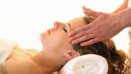 Head massage. video