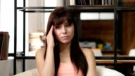Headache, Frustrated Depressed Woman, Office video