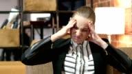 Headache, Frustration, Tense Business Woman video