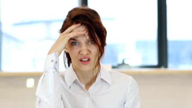 Headache, Tired Upset Woman video