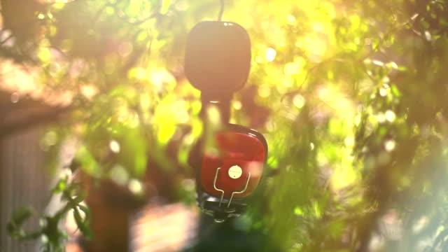 Headphones hung on a tree video