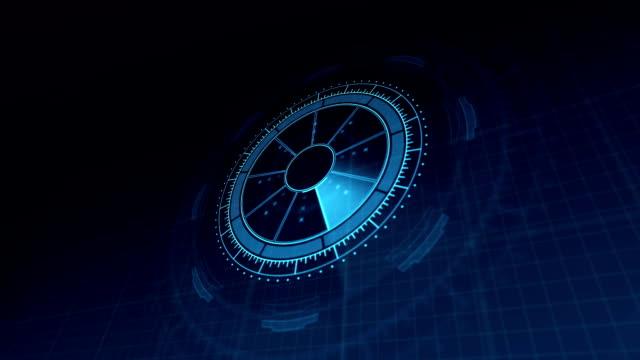HUD Heads Up Display Scanner high tech target digital video
