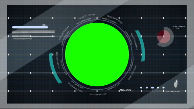 Heads Up Display With Green Screen video