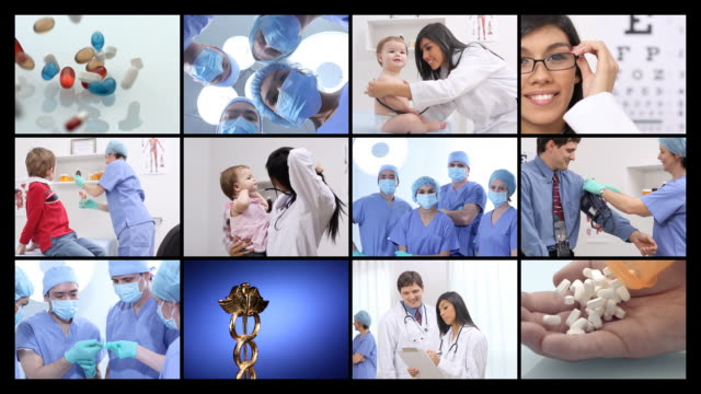 Health and Medicine, video montage video