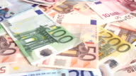Health costs concept - pills and euro money video