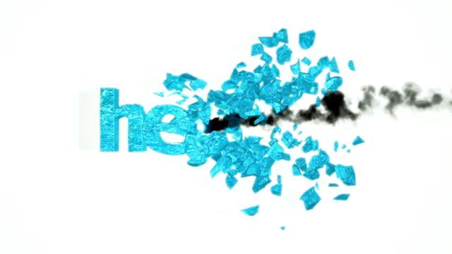 Health crash. Destruction with slow motion video
