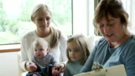 Health Visitor Talking To Mother With Young Children video