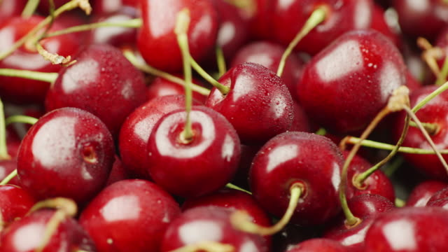 Healthy and healthy food - apetitic cherries video