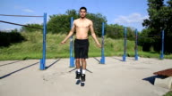 Healthy Athlete Man Jumping Rope video