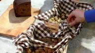 Healthy bread samples video
