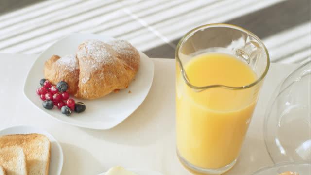 Healthy breakfast table video