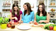 Healthy Caucasian Family Females Fresh Organic Produce video