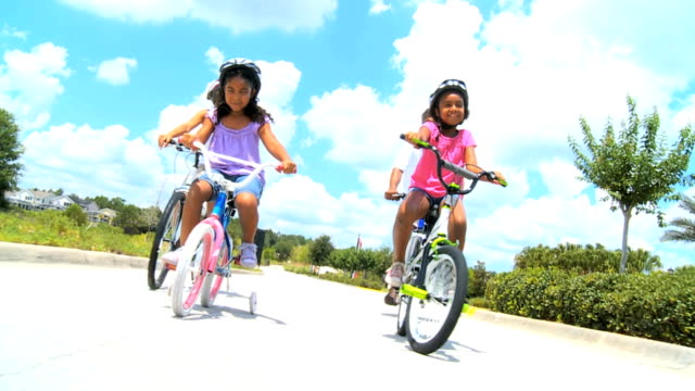 Healthy Ethnic Family Bike Riding Together video