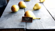 healthy food text and Juicy flavorful pears video