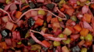 healthy foods from beets and mixed vegetables closeup in a bowl organic food without meat video