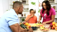 Healthy Lifestyle African American Family Fresh Fruit Salad video