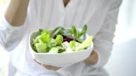 Healthy salad video