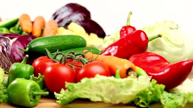 Healthy Vegetables Consept video