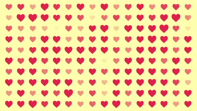 Heart Animation Seamless loop Pattern with Pastel Color Style video