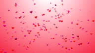 Heart Confetti 4 Loopable Background video