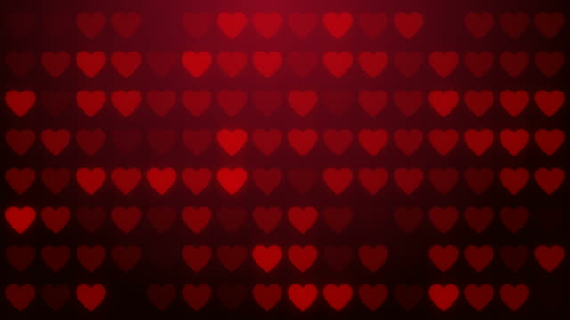 Heart, love symbol, loop background. video