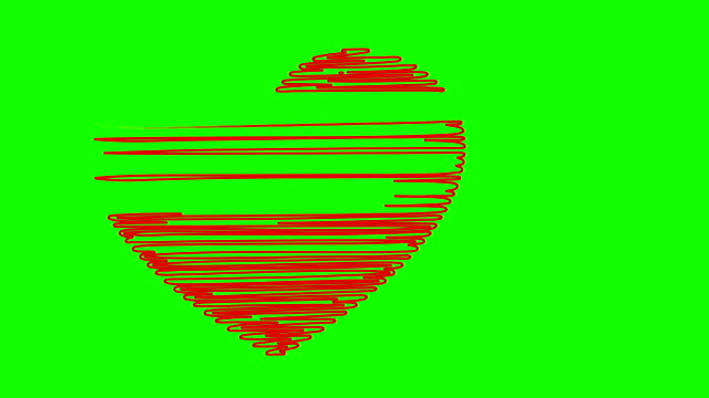 Heart on a green background video