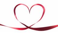 Heart Ribbon Effect + Alpha channel. video