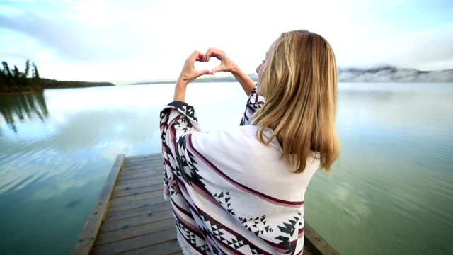 Heart shape in nature video